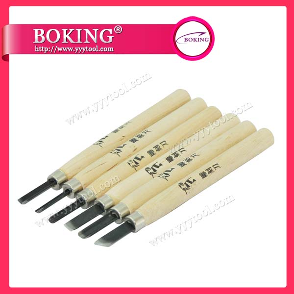 Wood Cut Knife set of 6pcs