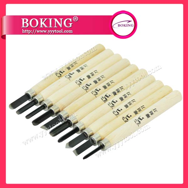 Wood Cut Knife set of 10pcs