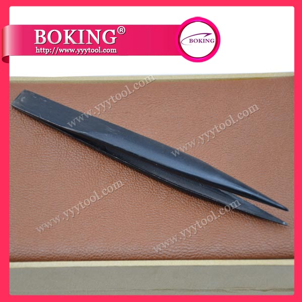 Black Soldering Tweezers-Straight