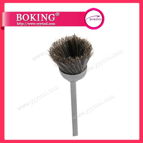 Brown Horse Hair Cup Brush