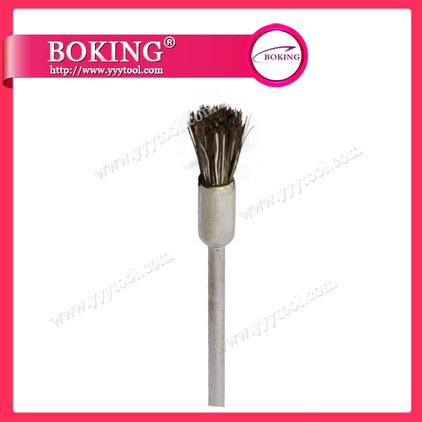Gray Goat Hair End Brush