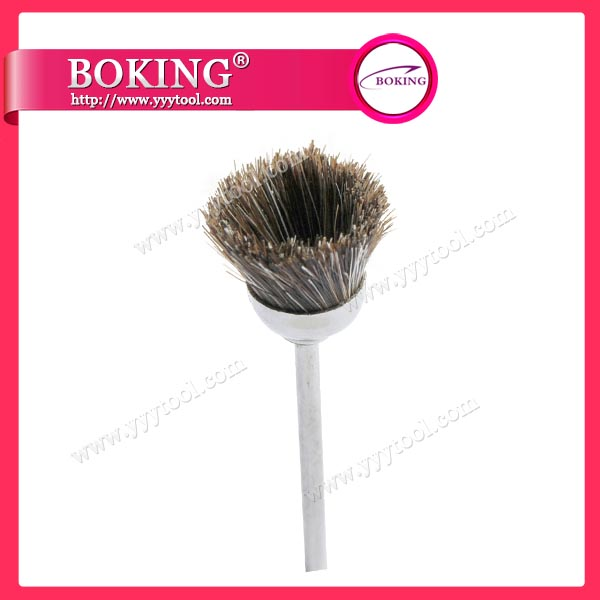 Gray Goat Hair Cup Brush