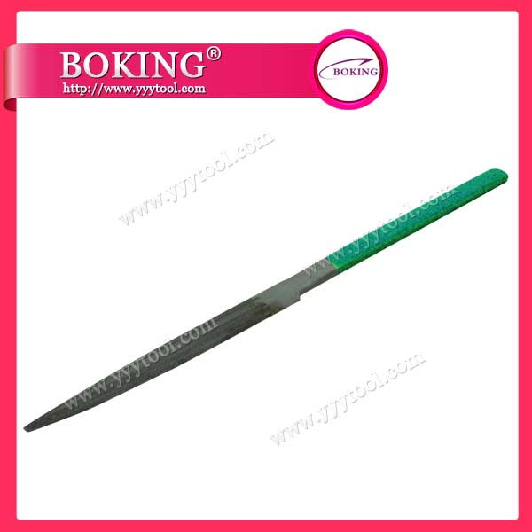 Glardon Vallorbe Green Handle Halfround File