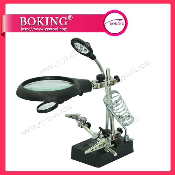 Magnifier with Light and Clamp