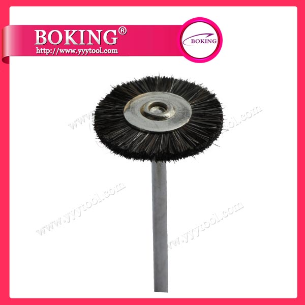 Mounted Black Horse Hair Wheel Brush