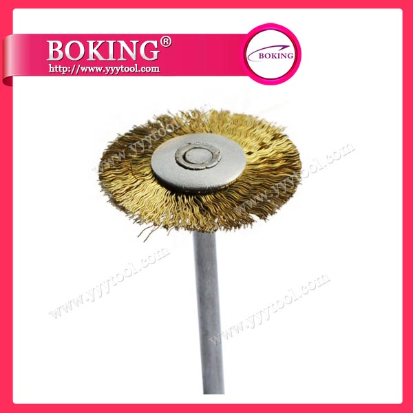 Mounted Brass Wire Brush