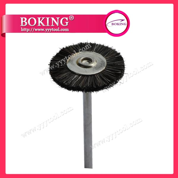 Mounted Gray Goat Hair Wheel Brush