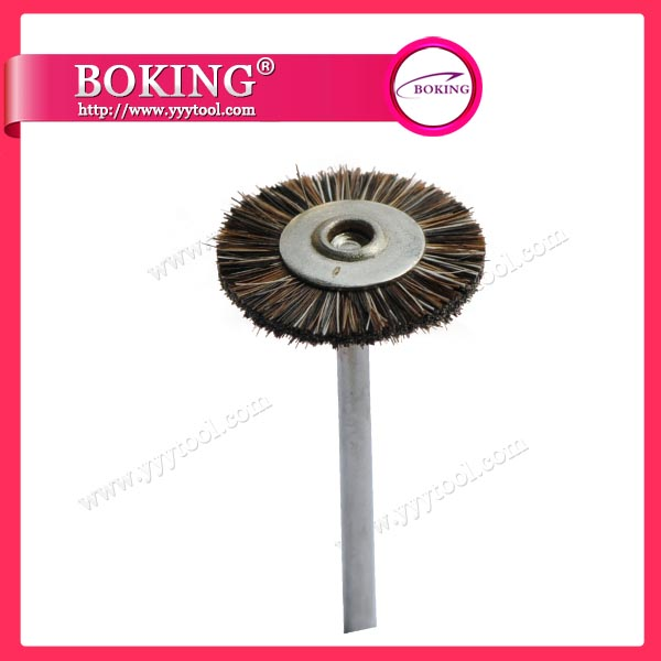 Mounted Horse Hair Wheel Brush