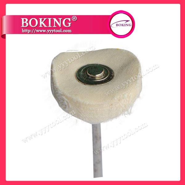 Mounted White Buffing Wheel