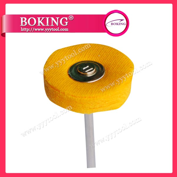 Mounted Yellow Buffing Wheel