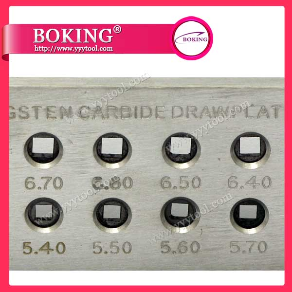 Square Shape Tungsten Carbide Drawplate