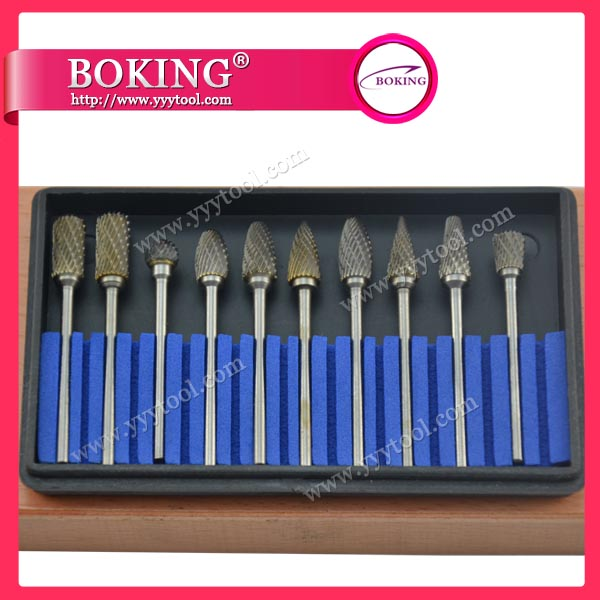 ¢2.34x¢4mm Tungsten Carbide Burs Set