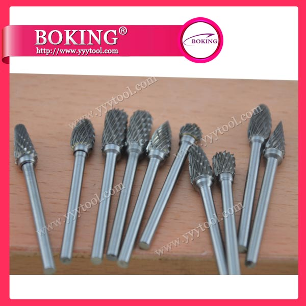 ¢3X¢6mm Tungsten Carbide Burs Set