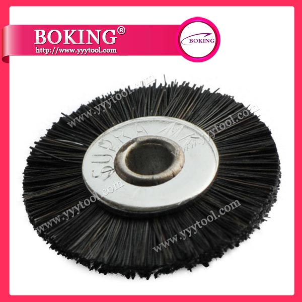 Unmounted Black Horse Hair Wheel Brush