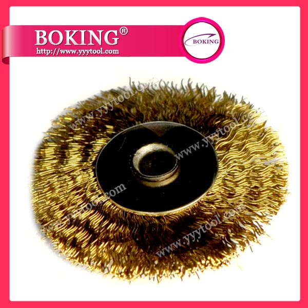 Unmounted Brass Wheel Brush