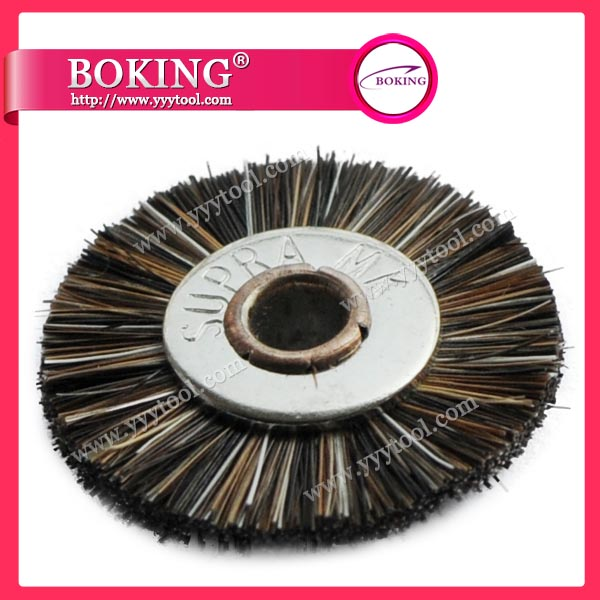 Unmounted Horse Hair Wheel Brush