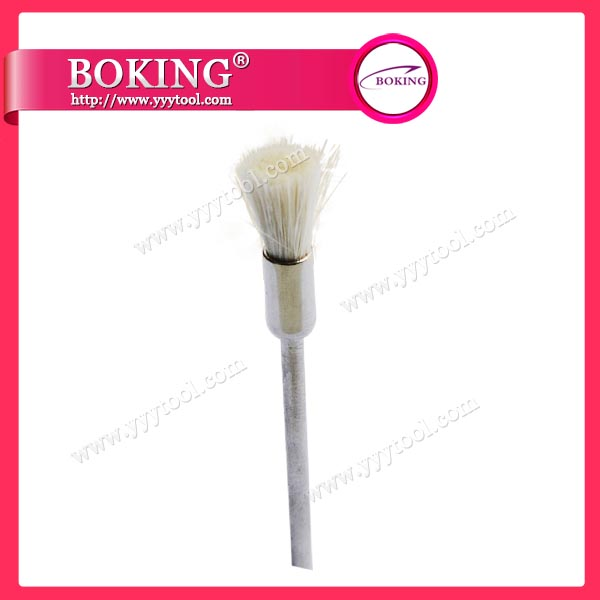 White Bristle End Brushes